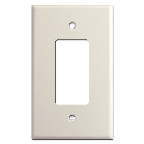 Oversized Single GFCI Decora Rocker Switch Wallplate - Light Almond