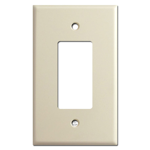 Oversized 1 GFCI Decora Rocker Switch Wall Plate Covers - Ivory