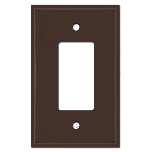 Oversized 1 GFI Decora Rocker Light Switch Covers - Brown