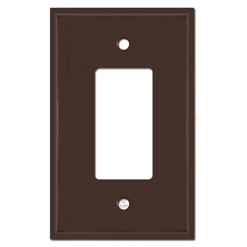 Oversized 1 GFI Decora Rocker Light Switch Covers - Brown