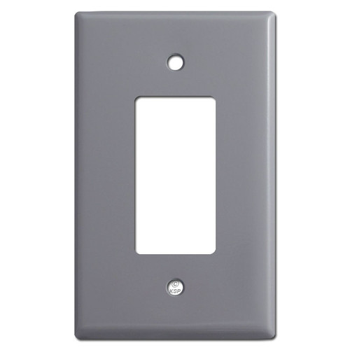 Oversized Single GFCI Decora Rocker Switch Plate Covers - Gray