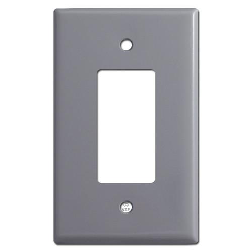 Oversized Single GFCI Decora Rocker Switch Plate Covers - Gray
