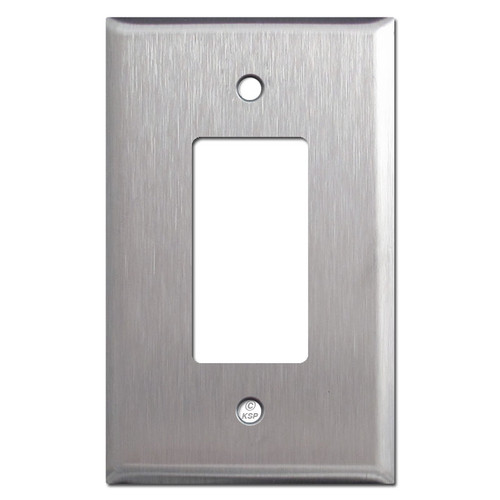 Large GFI Decora Rocker Switch Plates - Spec Grade Stainless Steel