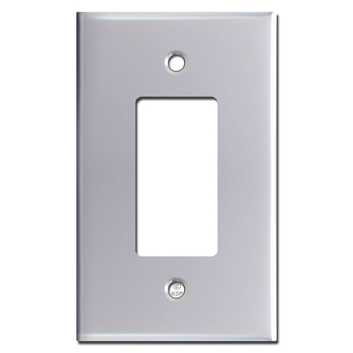 Oversized 1 Decora Rocker GFCI Switch Cover Plate - Polished Chrome