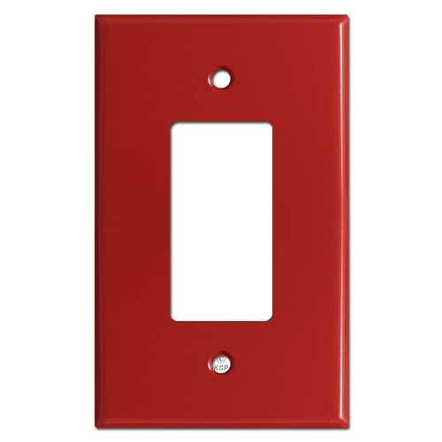 Oversized Single GFCI Decora Rocker Switch Wall Plate Cover - Red