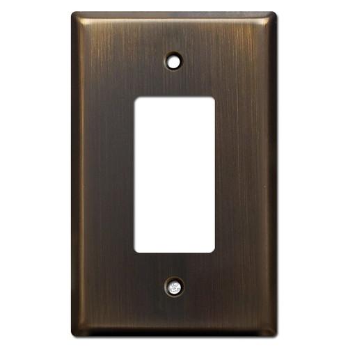 Jumbo 1 GFCI Decora Rocker Switch Plate Cover - Oil Rubbed Bronze