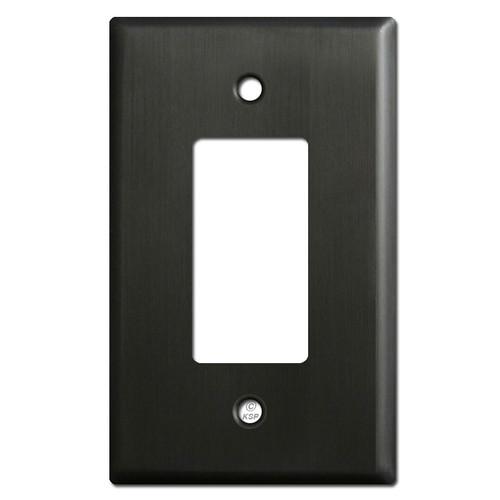 Oversized Decora Rocker Switch Wallplate Covers - Dark Bronze