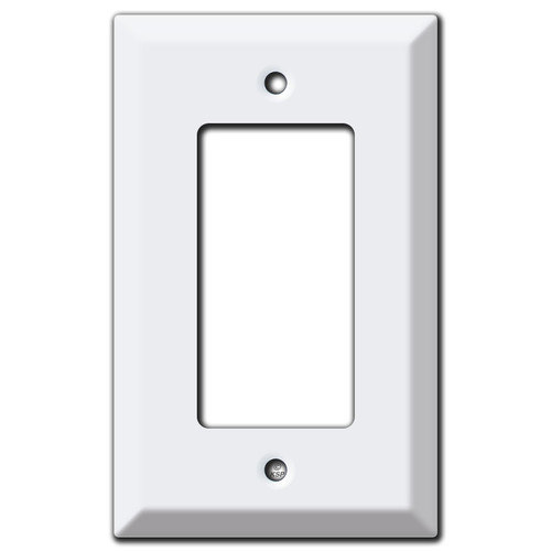 Deeper Single GFCI Decora Rocker Switch Wall Plate Covers - White