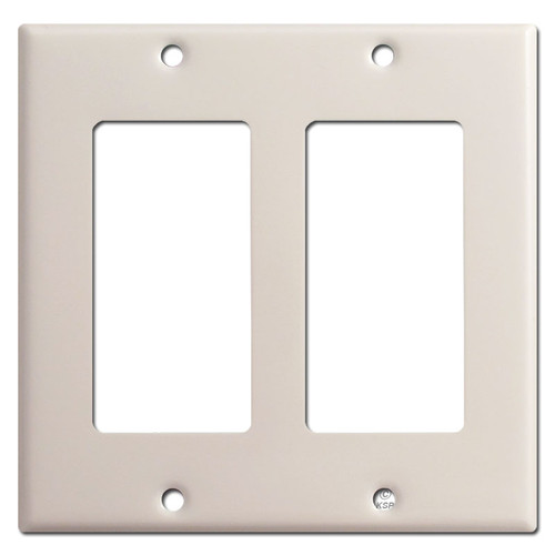 2 Decora Rocker Switch Plate - Light Almond