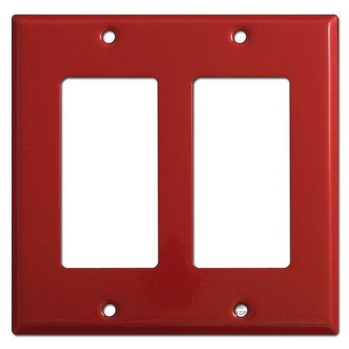 Double Decora Rocker GFI Switch Plate Cover - Red
