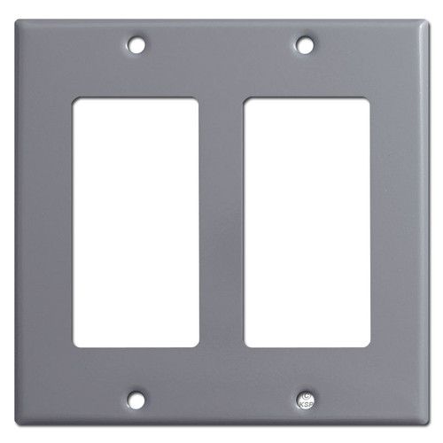 Double Rocker Light Switch Covers - Gray