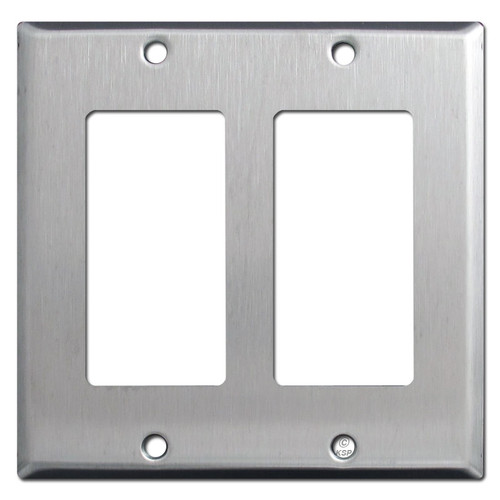 2 GFCI Decora Switch Plates - Spec Grade Stainless Steel