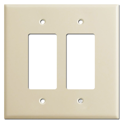 Jumbo 2 Decora GFCI Rocker Light Switch Covers - Ivory