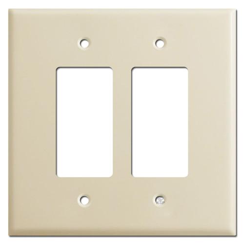 Jumbo 2 Decora GFCI Rocker Light Switch Covers - Ivory