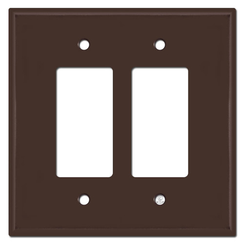 Oversized 2 Decora Rocker Light Switch Plates - Brown