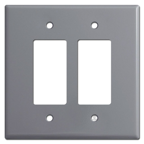 Oversized 2 Decora Rocker Switch Plate Cover - Gray