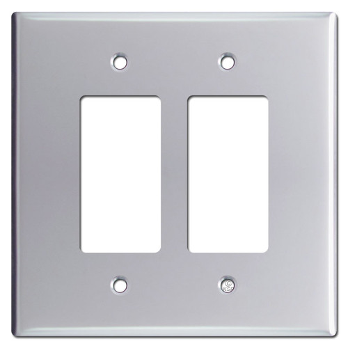Jumbo 2 Decora Rocker Switch Plates - Polished Chrome