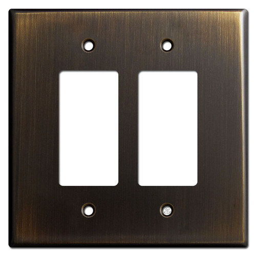 Oversized 2 Rocker Wall Plate - Oil Rubbed Bronze