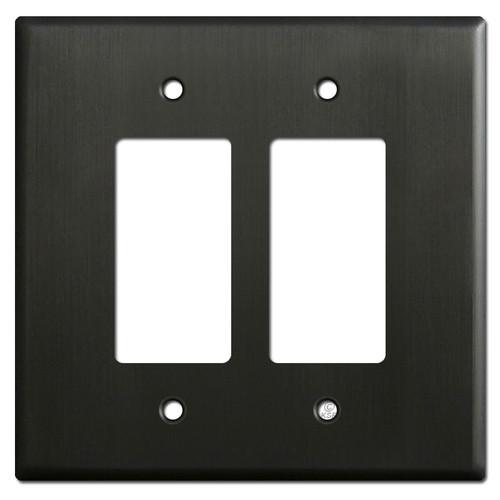 Oversized 2 Decora Rocker Switch Plates - Dark Bronze