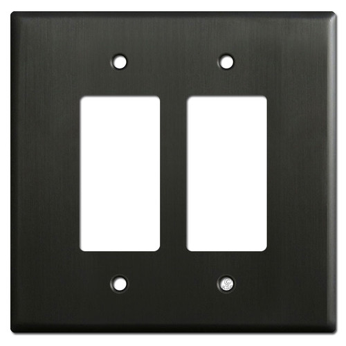 Oversized 2 Decora Rocker Switch Plates - Dark Bronze