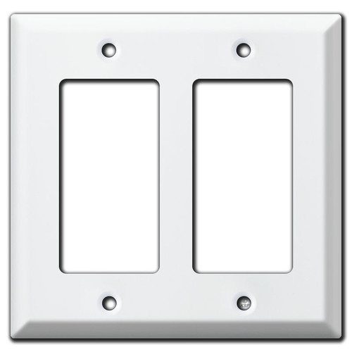 Deep 2 GFI Decora Rocker Switch Wall Plate - White