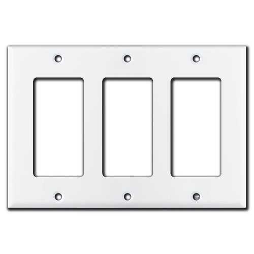 3 GFI Decora Rocker Switch Plate Covers - White