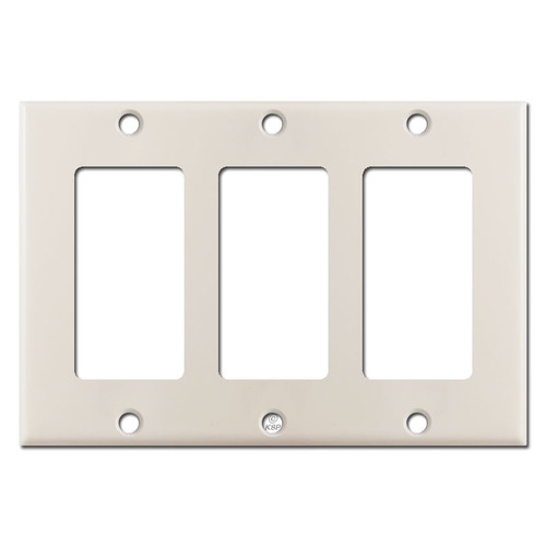 3 GFCI Decora Rocker Switch Plate Cover - Light Almond