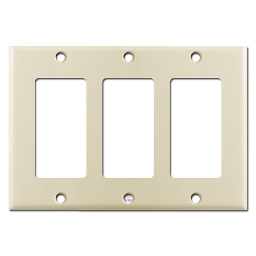 3 GFCI Decora Rocker Light Switch Plate Covers - Ivory