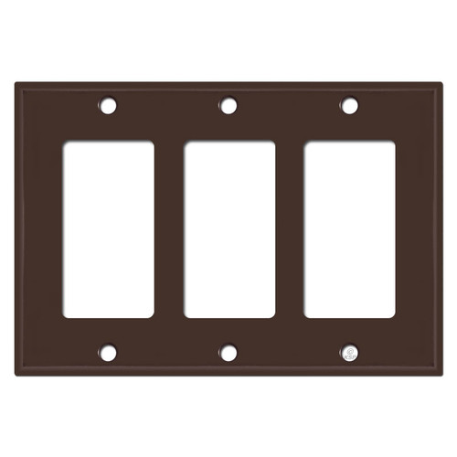 3 GFI Decora Rocker Switch Wall Plate Covers - Brown