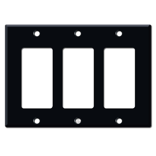 3 Decora Rocker GFCI Switch Plate Cover - Black