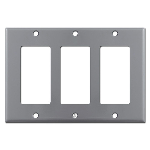 3 Decora GFI Rocker Switchplate Covers - Gray