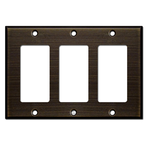 3 Decora Rocker Switch Wall Plate Covers - Oil Rubbed Bronze
