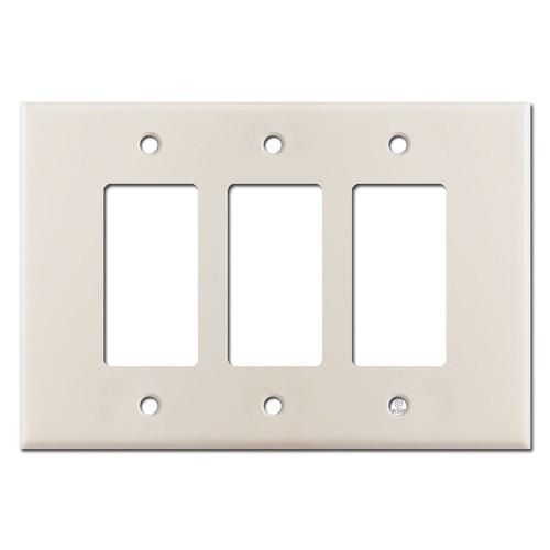 Oversized 3 Decora Rocker Jumbo Switch Plates - Light Almond