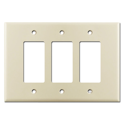 Oversized 3-Gang Decora Rocker Switch Plate Cover - Ivory