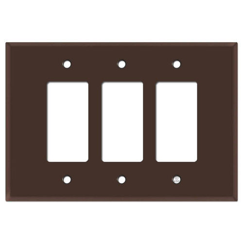 Oversized 3 Decora Rocker Jumbo Switch Wall Plate - Brown