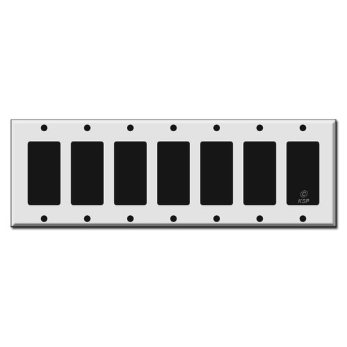 7 Gang Rocker Switch Plate