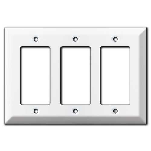 Deep 3 GFCI Decora Rocker Light Switch Plate Cover - White
