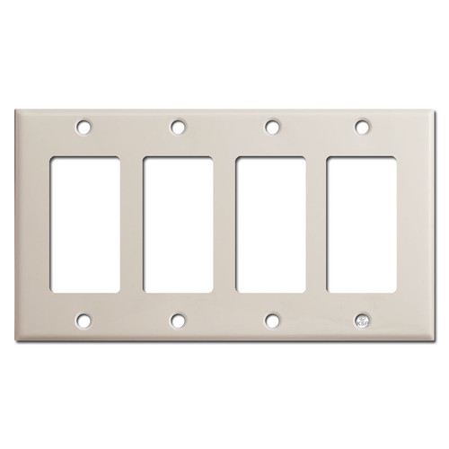4 Gang Four Rocker Wall Plates - Light Almond