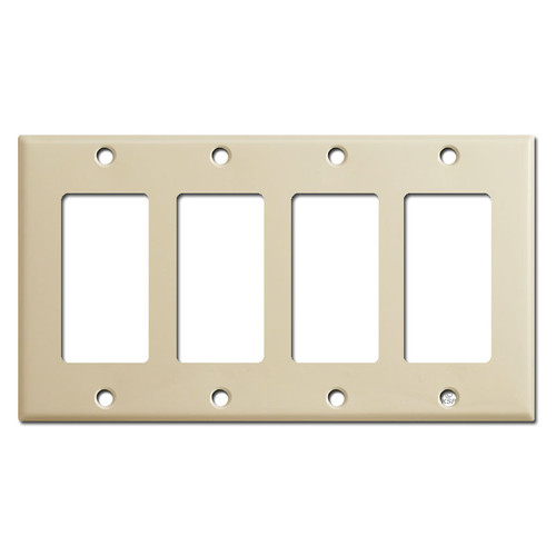4 Rocker Switch Plate Covers - Ivory