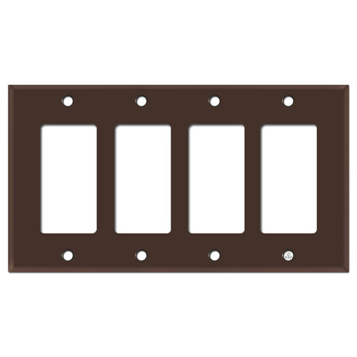 4 Decora Rocker Light Switch Plates - Brown