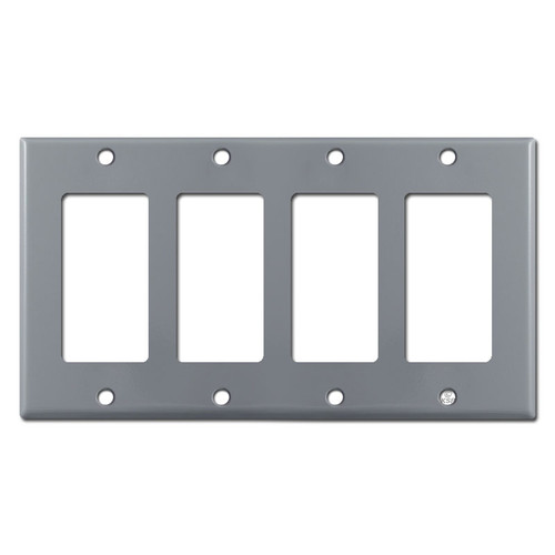 4 Decora Rocker Light Switch Wallplates - Gray