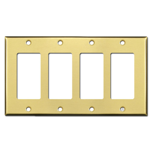 4 Decora Rocker GFCI Light Switch Wall Plate - Satin Brass
