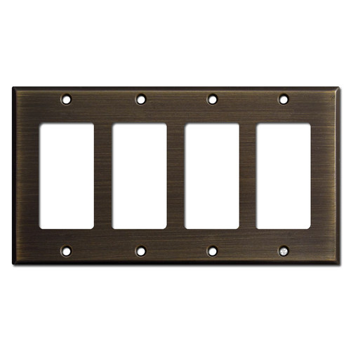 4 Decora Rocker Switch Wall Plates - Oil Rubbed Bronze