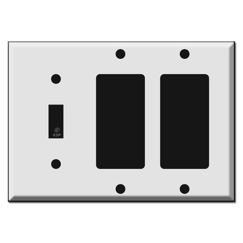 1 Toggle 2 Rocker Switch Plate