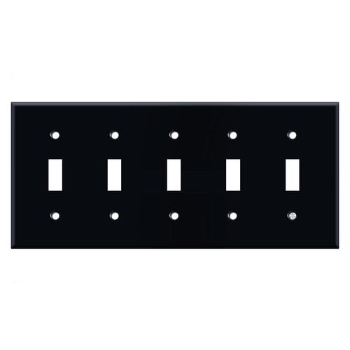 5 Toggle Light Switch Cover - Black