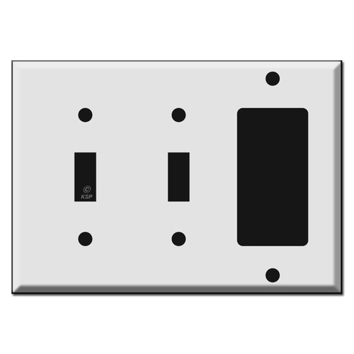2 Toggle 1 Decora Switch Plate