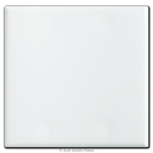 2 Gang All Blank Wall Switch Plates with No Holes - White