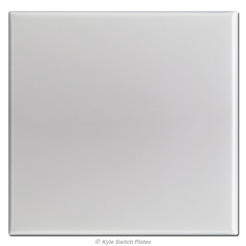 Double Gang Totally Blank No Hole Switch Plates - Brushed Aluminum