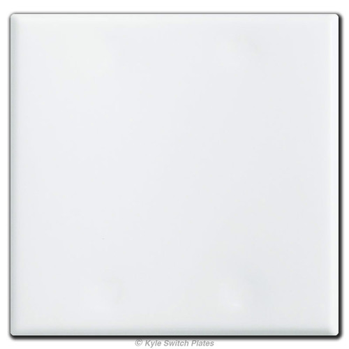 Jumbo 2 Gang All Blank Switch Plates with No Openings - White