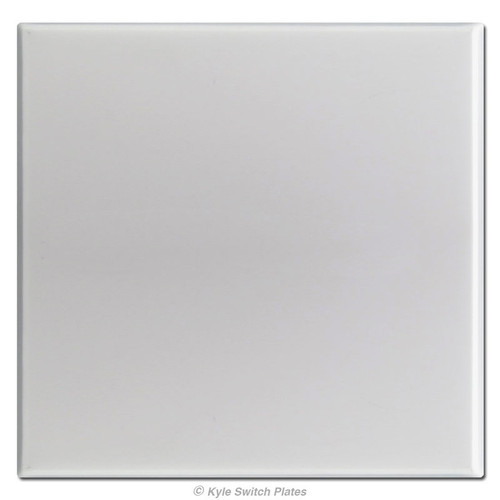 Oversized 2 Gang All Blank No Hole Switch Plates - Brushed Aluminum